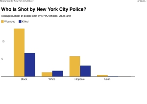 Who Is Shot by New York City Police?